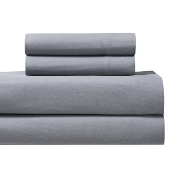 Gray-Split-King-Adjustable-Heavyweight-Flannel -Sheet Set