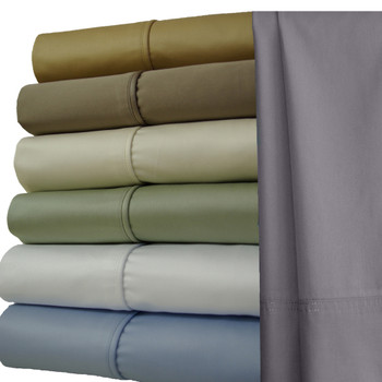 Split King Sheets 1000 Thread Count 100% Cotton Solid Sheet Sets