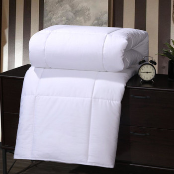 100% Pure Mulberry Silk-Filled Blanket Luxury 400 Thread Count 100% Cotton Sateen White Shell.