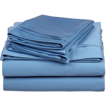 Pair of Pillowcases 100% Egyptian Cotton Triple Pleated 600 Thread count