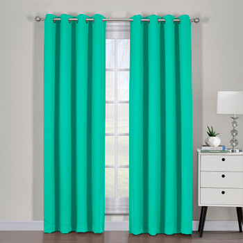 Turquoise-Ava-Blackout-Weave -Curtains-Panels