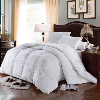 100% Cotton Hungarian Goose Down Comforter  500-Thread-Count 750FP Duvet Insert By Abripedic