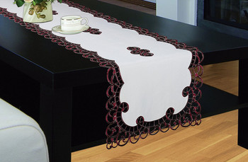Holland Table Runner, Luxury Embroidered and Hand Cutwork Table Runner, Top Dinner Kitchen Table Runner