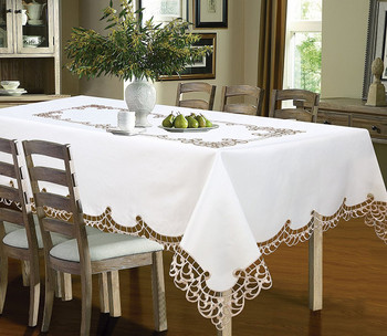 Holland Luxury Embroidered Table cloth-gold