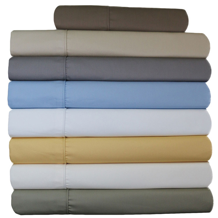 Royal Tradition. Wrinkle Free 650 Thread Count Cotton Blend Solid Sheet Sets