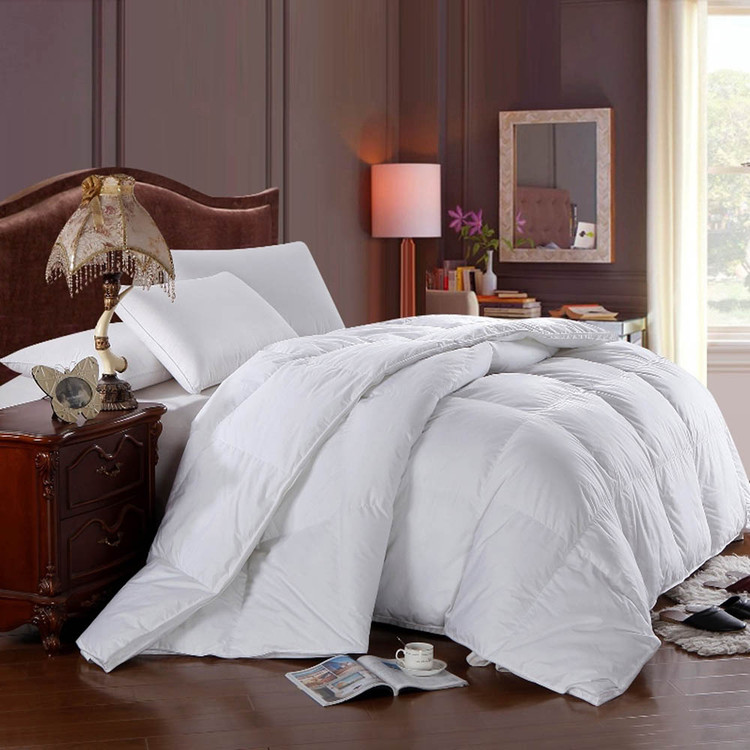 White Duck Down Comforter Solid 300tc Shell All Seasons