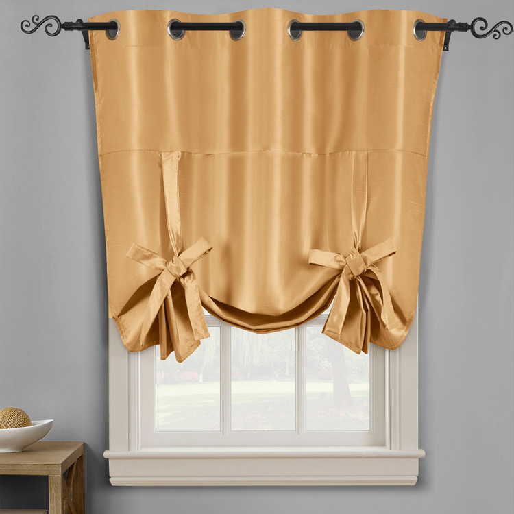 Soho Triple-Pass Thermal Insulated Blackout Curtain Top Grommet-Gold
