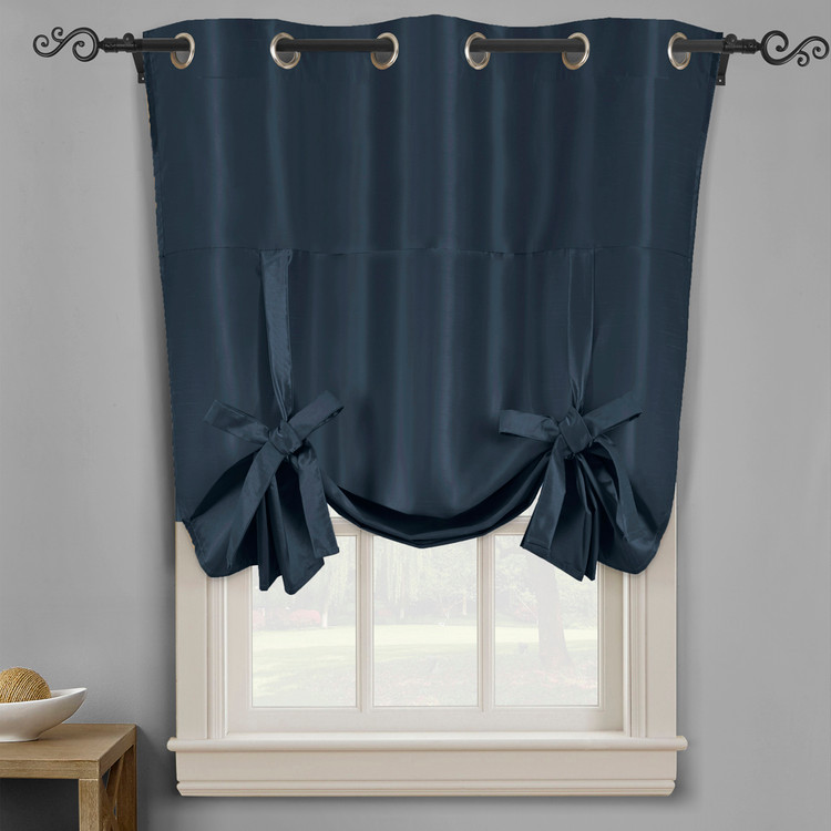 Soho Triple-Pass Thermal Insulated Blackout Curtain Top Grommet-Navy