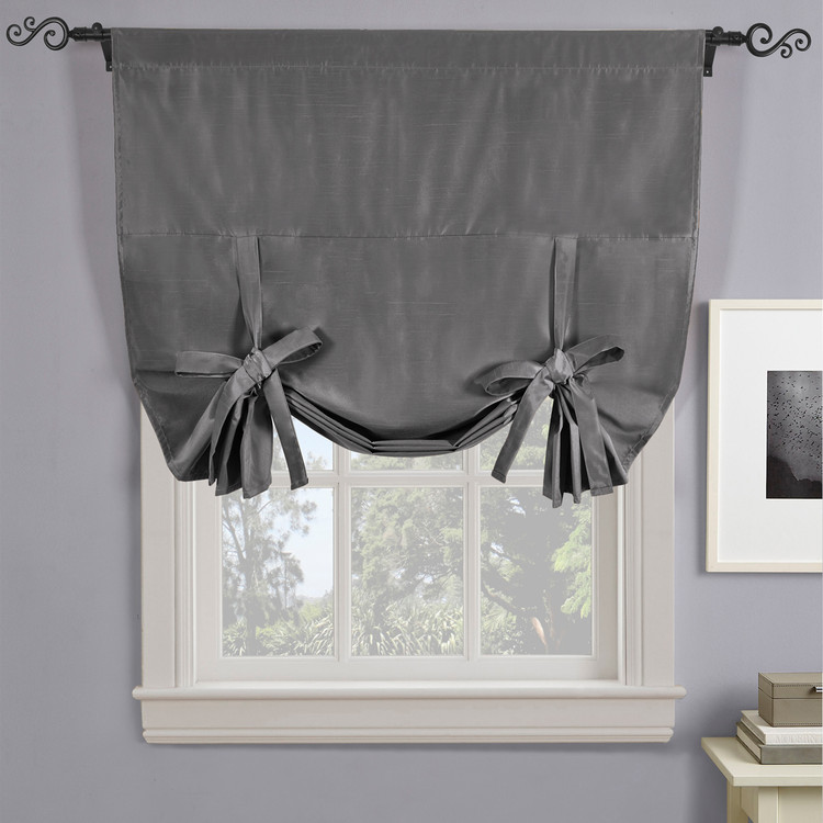 Soho Triple-Pass Thermal Insulated Blackout Curtain Rod Pocket-Gray