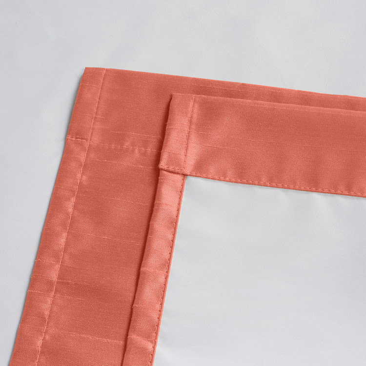 Soho Triple-Pass Thermal Insulated Blackout Curtain Rod Pocket-Coral-details