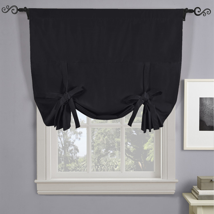 Soho Triple-Pass Thermal Insulated Blackout Curtain Rod Pocket-BLACK