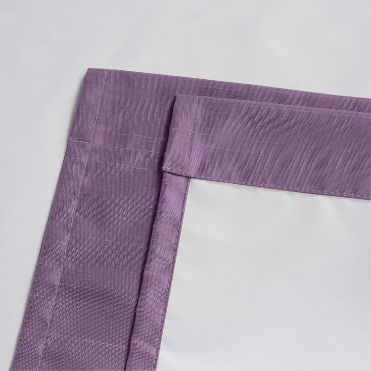 Soho Triple-Pass Thermal Insulated Blackout Curtain Rod Pocket-Purple-details