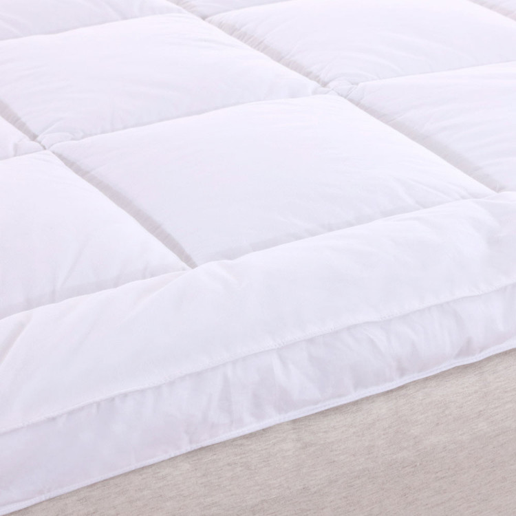 2 Inch Thick Comfort Mattress Topper 100% Cotton Shell, White Alternative Down fill-Detailed