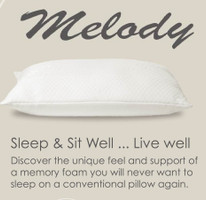 Luxury Loft Melody Memory Foam Pillow (single Or Set Of 2 )