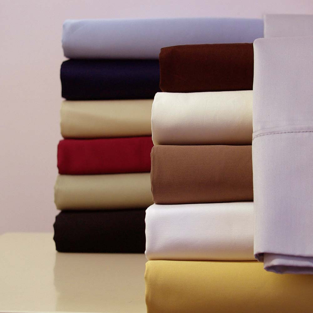100 Cotton Sateen 300 Thread Count Solid Bed