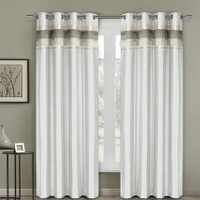 Royal Tradition Milan Lined Blackout Curtains with Gromme...