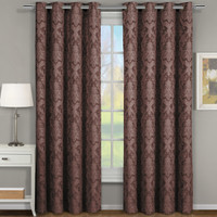 Royal Tradition Blair Damask Floral Curtains Jacquard Dra...