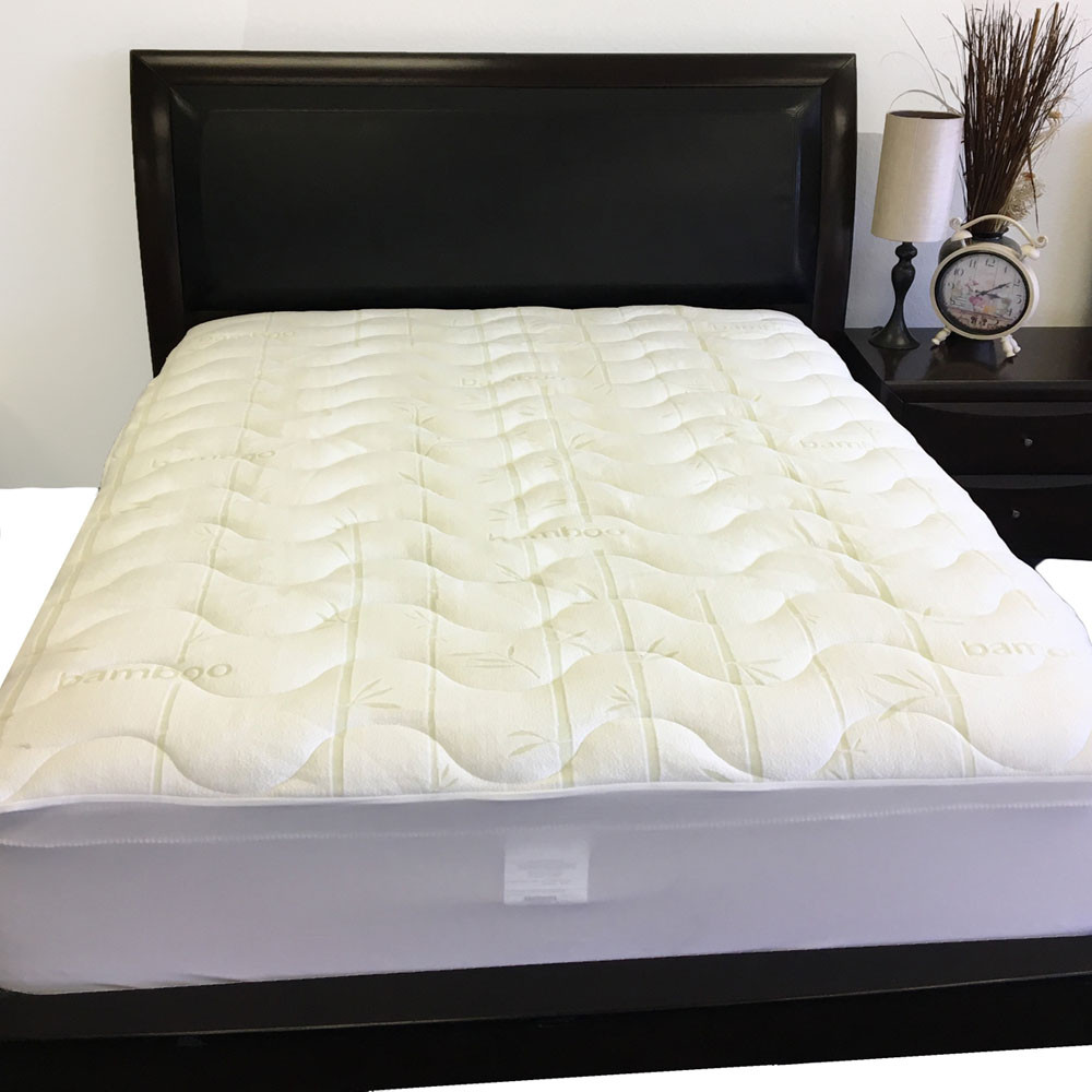 Plush Bamboo Jacquard Mattress Pad Wholesalebeddings Com