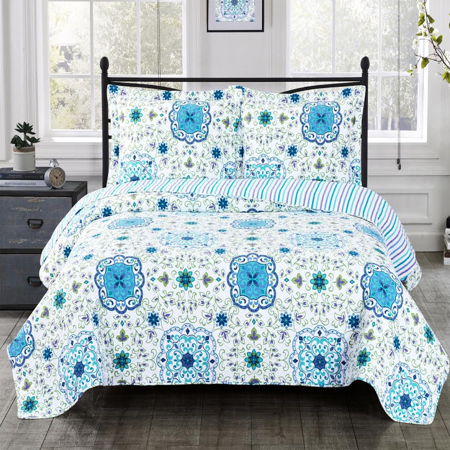 Arielle Wrinkle Free Quilts Oversized In Twin Queen Or