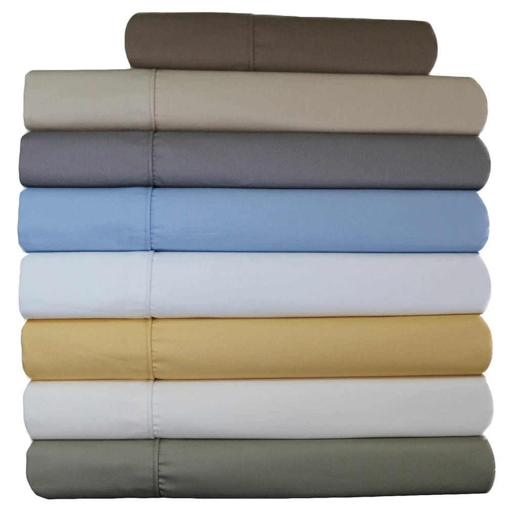 High Quality Split King Adjustable Bed Sheets 650tc Cotton Blend  ...