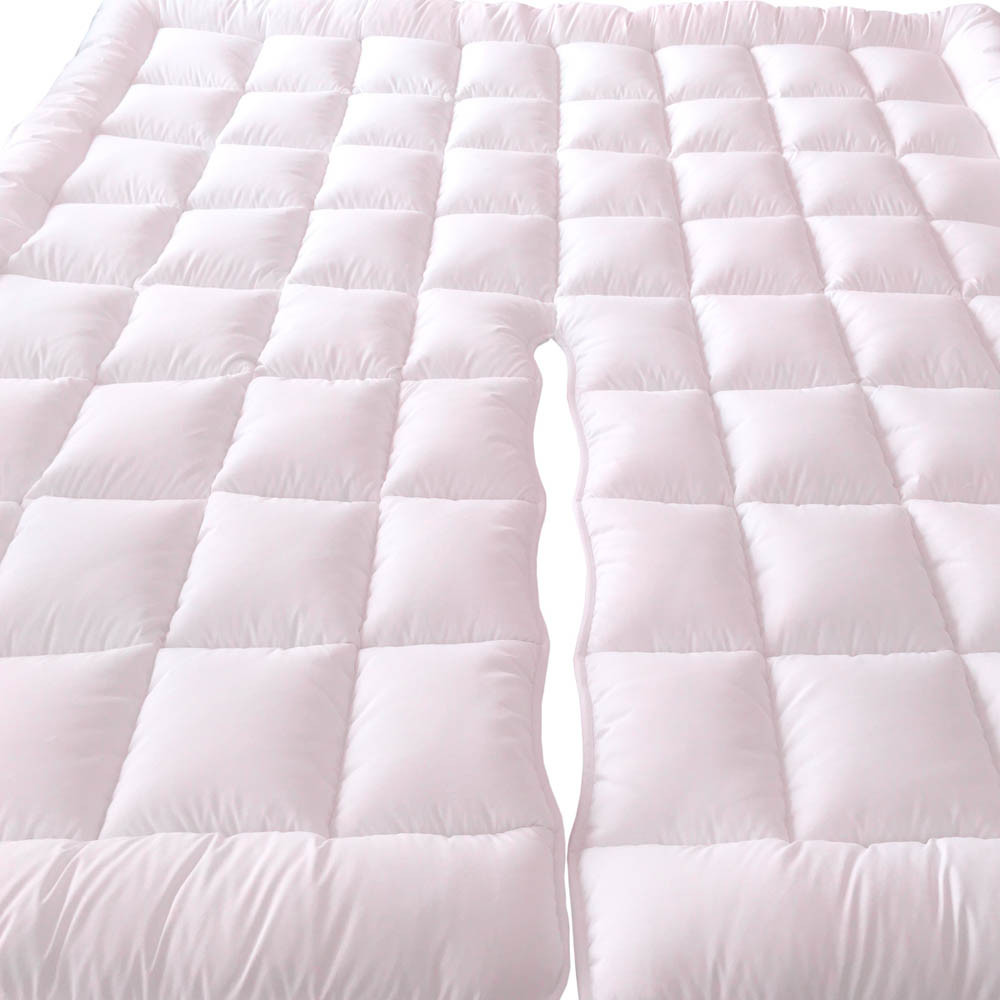 Split Top King Plush 2 Inches Mattress Pad Down