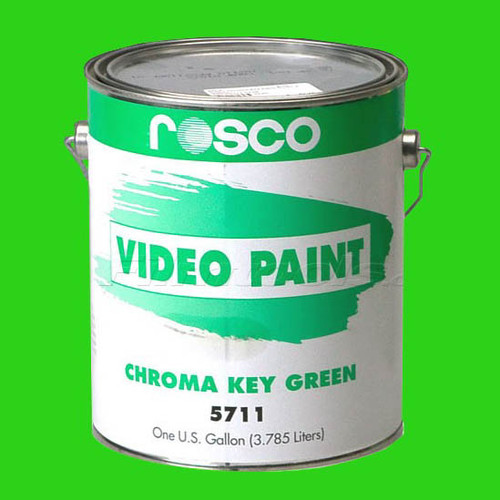 55CHG - Rosco Chromakey GREEN  Paint Gallon, Video Paint