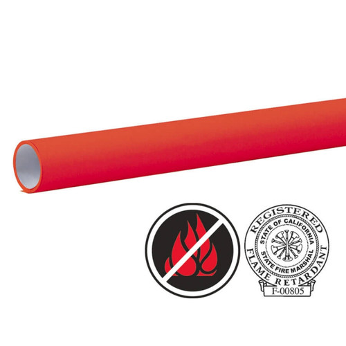 "Pacon Flameless/Fadeless- 48""X100', Cherry Red Paper"