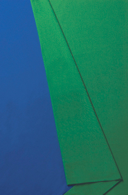 10'x24' Solid Color Muslin, Chromakey Blue/Green (3.048m x 7.315m)