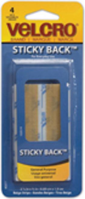 """Velcro-3 1/2""""X 3/4"""" Strips-Beige"""