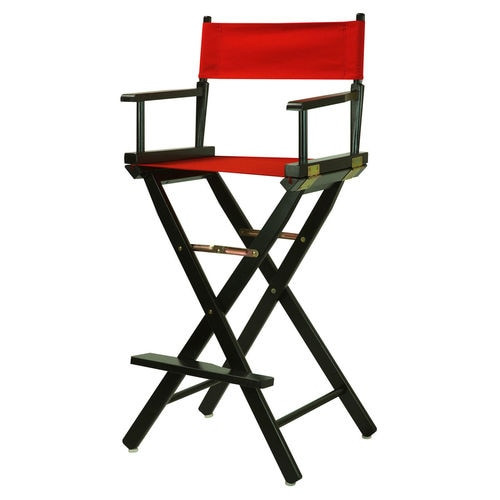 "Fold up Directors Chair 30"" (Black or Red)"
