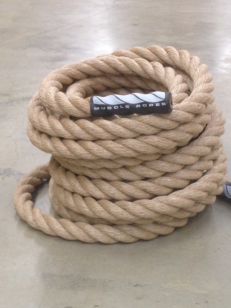 """Sandstorm Series 1.5"""" Unmanila Battle Rope By Muscle Ropes"""