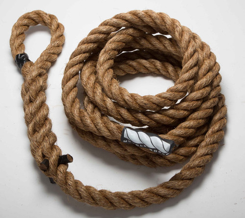 "Climbing 1.25"" Manila Battle Rope By Muscle Ropes"