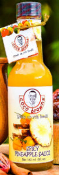 fruity with a kick of scotch bonnet, made from sun ripe pineapple, sweet peppers and scotch bonnet peppers.