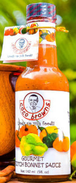 Gourmet Scotch Bonnet Sauce  - our signature sauce offering a perfect balance of ripe scotch bonnet peppers, herbs and spices creating an authentic Jamaican culinary experience