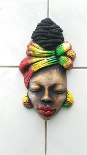 Elegant ceramic wrap head mask.  A beautiful art piece