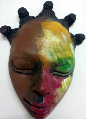 Lrg Nubian Bumpy Head Mask