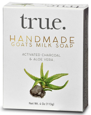 TRUE Handmade Goat's Milk Based Activated Charcoal and Aloe Vera Soap