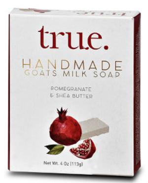 TRUE Handmade Goat's milk Based Pomegranate & Shea Butter Soap