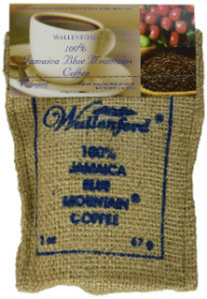 2oz Jute Bag Jamaica Blue Mountain coffee whole beans