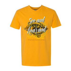Male T-Shirt ( see & Blind)