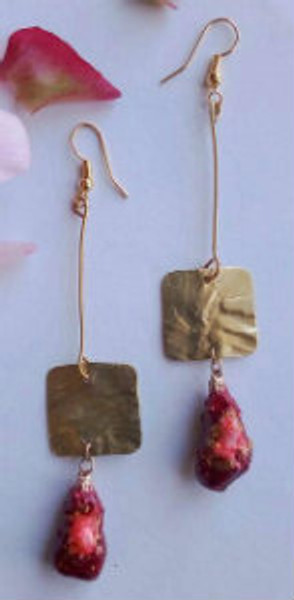 Eco friendly Earrings (red)