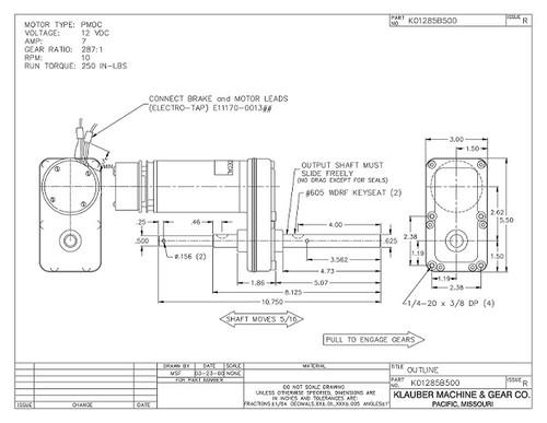 K01285-B500 Klauber Gear Motor (K01285B500)