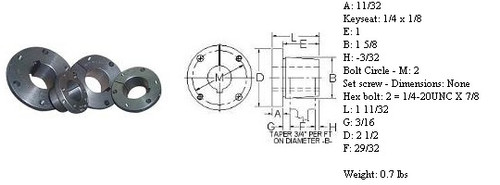 """L-1-1/16  QD Type """"L"""" Bushing"""