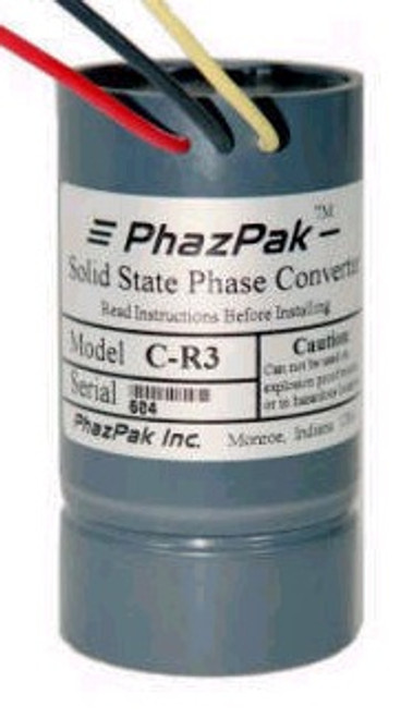 A-R3 1/4 to 1/3 h.p.  High efficiency phase converter