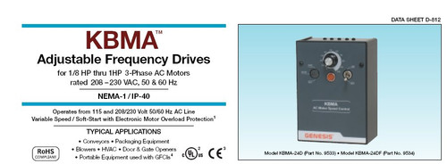 KBMA-24D Adjustable Frequency Drives