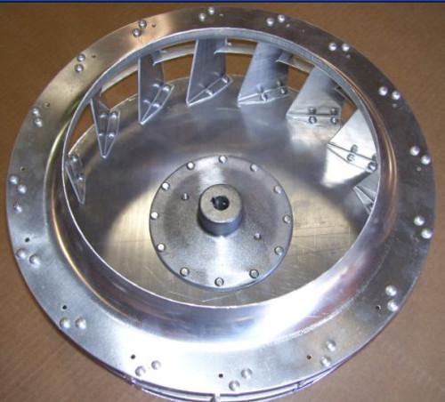 """1214 Backward Inclined Wheel 12-3/16"""""""