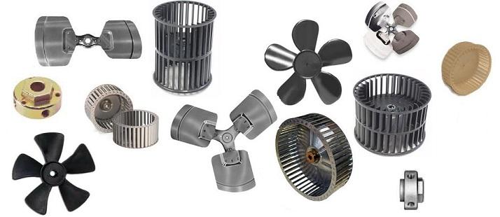 fan blades hubs