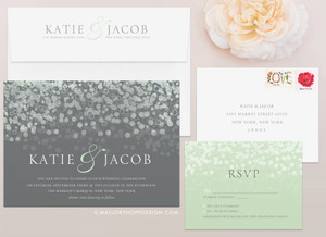Champagne Bubbles Wedding Invitation