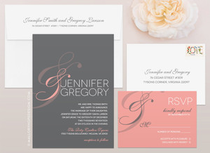 Simple Ampersand Wedding Invitation