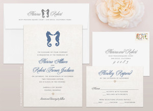 Seahorse Wedding Invitation